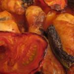Fırında Sebzeli Tavuk Baget